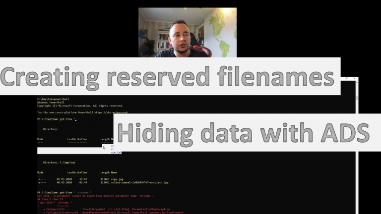 Creating reserved file names and Alternate Data Streams